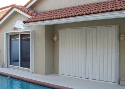 Accordion Shutters Poolside