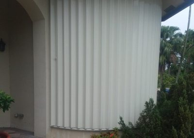 Accordion Shutters Rounded Window