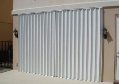 Shutter Pros Accordion Shutters White Sliding Glass Door